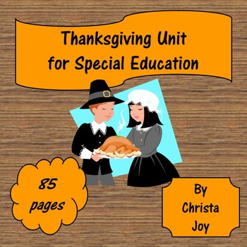 Thanksgiving Unit for Special Education