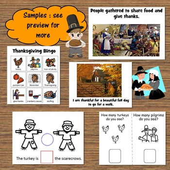Thanksgiving Unit for Special Education with social story and lesson plans