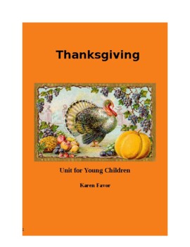 Thanksgiving Unit for Young Childen