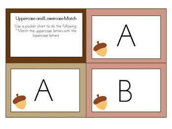 Thanksgiving Uppercase and Lowercase Matching Center