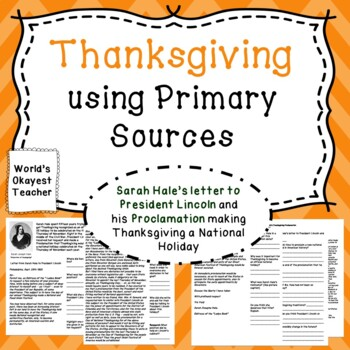 Thanksgiving: Using Primary Sources