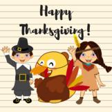 Thanksgiving VIPKID Characters