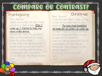 Thanksgiving VS Christmas: Compare and Contrast Lesson Slide Show