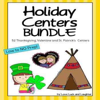 Thanksgiving, Valentine's, St.Patrick's Centers Bundle