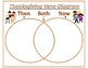 Thanksgiving Venn Diagram THEN AND NOW freebie (Color and Black/White)