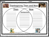 "Thanksgiving Venn-Diagram ""Then and Now"" 2"
