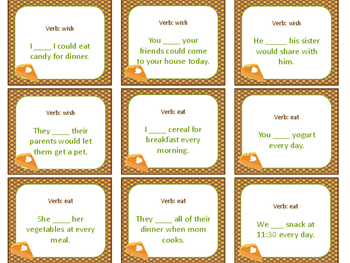 Thanksgiving Verb Conjugation