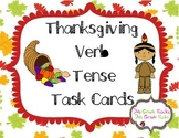 Thanksgiving Verb Tense Task Cards/Scoot