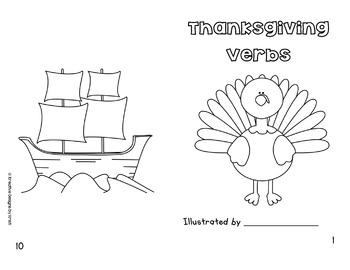 Thanksgiving Verbs Book