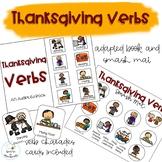 Thanksgiving Verbs Adapted Book // Speech Therapy // Grammar