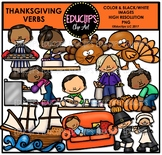 Thanksgiving Verbs Clip Art Bundle {Educlips Clipart}