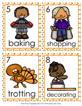Thanksgiving Verbs Write The Room Activity
