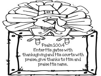 Thanksgiving Verse Placemats, Posters, Coloring Pages