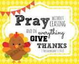 Thanksgiving Verses Printables
