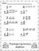 Thanksgiving Vertical Addition