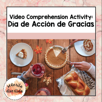 Thanksgiving Video Comprehension Activity