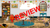 Thanksgiving Virtual Learning Classroom Cover *Editable* (