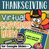 Thanksgiving Virtual Scavenger Hunt for Distance Learning
