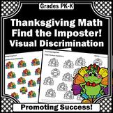 Kindergarten Thanksgiving Math Activities, Counting 1-10 Worksheets Number Words