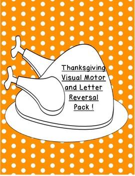 Thanksgiving Fine Motor,Gross Motor,Letter Reversal Pack differentiated b d p q