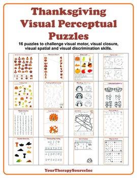 Thanksgiving Visual Perceptual Activities