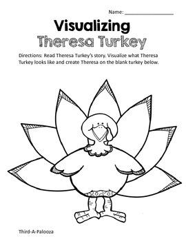 Thanksgiving Visualizing Reading & Craftivity: Theresa Turkey's Story