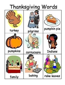 Thanksgiving Vocab Pack