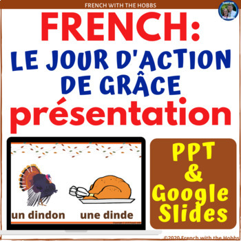 Thanksgiving Vocabulary Presentation in French