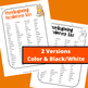 Thanksgiving Vocabulary Activities - Color Version