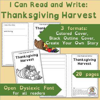 Thanksgiving Emergent Readers | Open Dyslexic Font