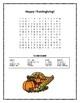 Thanksgiving Vocabulary Activity