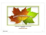 Thanksgiving Vocabulary Activity