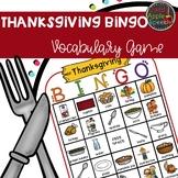 Thanksgiving Bingo Vocabulary Game
