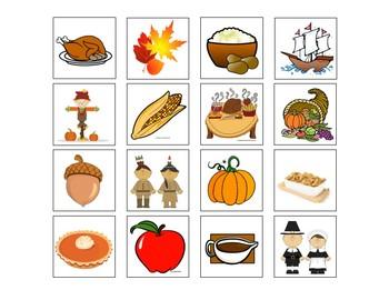 Thanksgiving Vocabulary Book