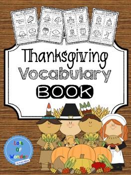 Thanksgiving Vocabulary Book: Grades K-2
