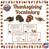 Thanksgiving Vocabulary Boom Cards™ (Distance Learning)