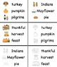 Printable Thanksgiving Vocabulary Cards