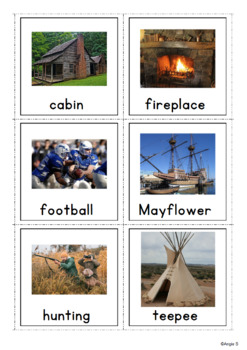 Thanksgiving Vocabulary Photo Cards for Special Ed, Speech Therapy, ESL