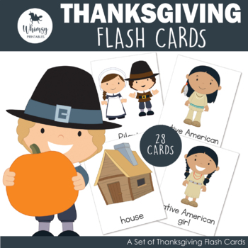 Thanksgiving Vocabulary Cards