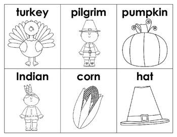Thanksgiving Vocabulary Cards FREEBIE