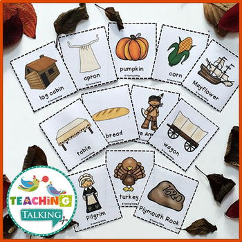 Thanksgiving Vocabulary Cards (Freebie!)
