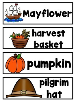 Thanksgiving Vocabulary Cards, Literacy Centers, Games and More.... Mega Bundle