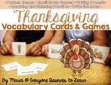 Thanksgiving Vocabulary Cards and Games