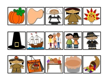 Thanksgiving Vocabulary Cariboo Cards