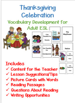 ESL Thanksgiving Vocabulary Development for Teens and Adults