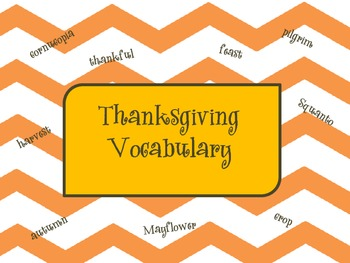 Thanksgiving Vocabulary Game