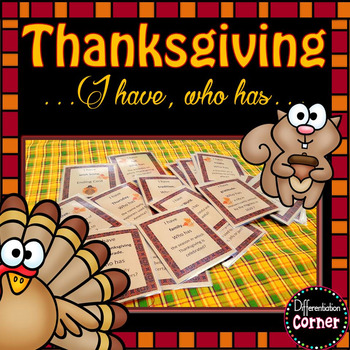 Fall Thanksgiving Vocabulary Game
