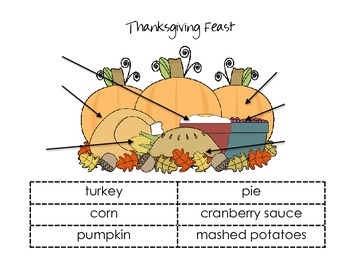 Thanksgiving Vocabulary-Labeling