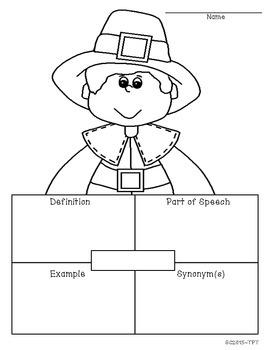 Thanksgiving Vocabulary Map