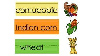 Thanksgiving Vocabulary Match